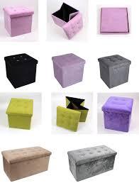 large ottoman storage box pouffe seat chest folding stool underbed