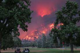 California Wildfire Ranking by Photographer Explains The Viral Eagle Creek Fire Golf Photo