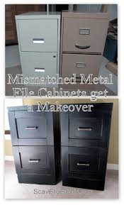 best ideas about painted file cabinets pinterest filing mismatched metal file cabinets get makeover scavenger chic cabinetspainting