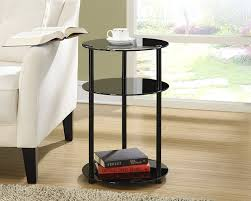 end table with shelves amazon com convenience concepts designs2go midnight classic 3 tier
