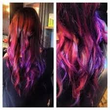 whats new cherry bomb hair lounge hair salon and purple pink peek a boo hair streaks using pravana vivids salon