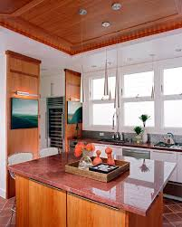 Red Kitchen Countertop - red granite countertops kitchen traditional with breakfast bar