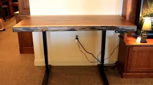 Adjustable Height Standing Desk by Walnut Live Edge Adjustable Height Standing Desk Country Lane