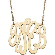 Single Initial Monogram Necklace Buy Personalized Women U0026 39 S 10kt Yellow Gold Single Initial