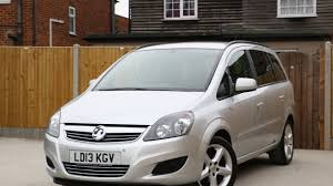 vauxhall zafira 1 6 exclusiv 5 speed 7 seater mpv bluetooth