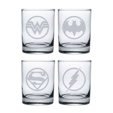 superheroes 3 stemless wine glasses set of 4 susquehanna