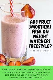 are fruit smoothies free on weight watchers freestyle