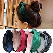 velvet headband aliexpress buy 3pcs lot solid color velvet knot design wide