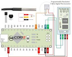 wiring the ds18s20 1 wire temperature sensor with bluetooth hc06