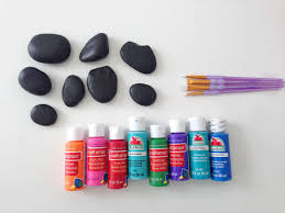 3 ways to paint and use painted rocks the crafting