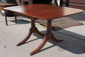 Duncan Phyfe Dining Room Set Antique 1940 U0027s Duncan Phyfe Style Mahogany Drop Leaf Table