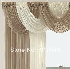Sheer Curtains With Valance Luxury Sheer Curtain Valance Waterfall Swag Valance W 60 Cm H 50