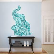 amazon com mairgwall elephant wall stickers yoga vinyl boho wall amazon com mairgwall elephant wall stickers yoga vinyl boho wall decal home bedding decor nursery wall mural 38