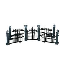 lemax spooky town collection gargoyle fence set of 5