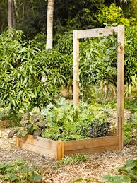 Plant Trellis Cedar Trellis Vegetable Trellis For The Rustic Cedar Raised Bed