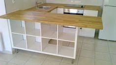 plan de travail separation cuisine sejour transformer une étagère ikea en un îlot de cuisine 20 exemples