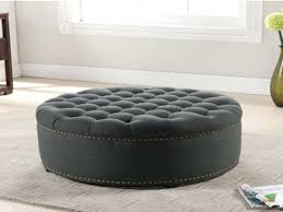 Large Tufted Leather Ottoman Sophisticated Large Ottoman Taptotrip Me