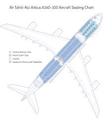 Air China Seat Map by Seat Map Air Tahiti Nui