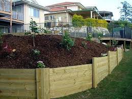 Retaining Wall Ideas For Gardens Retaining Wall Timber Design Of Landscaping Timber Ideas