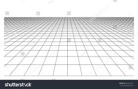 checkered floor plane square tiles perspective stock vector