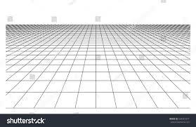 floor plane checkered floor plane square tiles perspective stock vector
