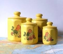 yellow kitchen canister set yellow kitchen canisters foter