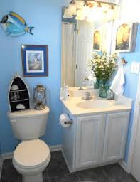 cute small bathroom decorating ideas with sea theme and great