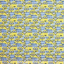 minion wrapping paper 1 in a minion bello minions blue yardage despicable me minion