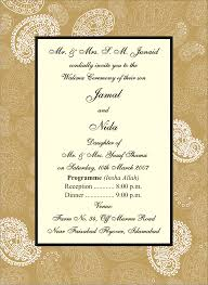 Walima Invitation Card Printo Graphic Wedding Cards