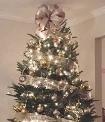 White Christmas Tree Decorations For Sale by Christmas Tree Topper Bow Sale Champagne White Gold