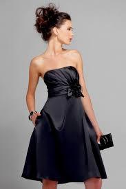 chic tea length black bridesmaid dresses for modest and elegant