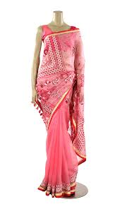 arong saree pink nakshi kantha embroidered muslin saree muslin saree women