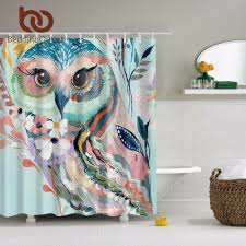 Leopard Print Shower Curtain by Aliexpress Com Buy Beddingoutlet Watercolor Owl Shower Curtain