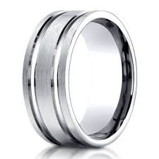 Mens 8mm White Gold Comfort Fit Wedding Band Designer Men U0027s Palladium Wedding Band 8mm Just Men U0027s Rings