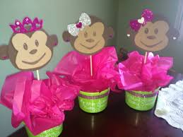 baby shower centerpieces for a girl monkey baby shower theme girl 773