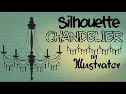 Easy To Draw Chandelier Illustrator Draw A Silhouette Chandelier Youtube
