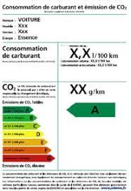 si e auto obligatoire étiquette énergie co2 sur les véhicules neufs à la vente est