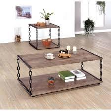 riverside sierra round 3 piece coffee table set hayneedle