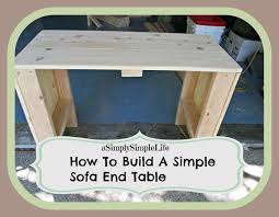 How To Build A Sofa Table by How To Build A Simple Sofa End Table Asimplysimplelife Youtube