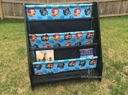 thrift store save paw patrol book shelf diy danielle