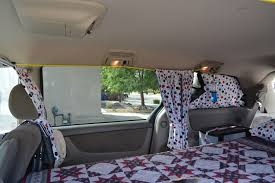 Van Window Curtains Side Curtains Hang On Bungee Cords Strung Between Hand Holds