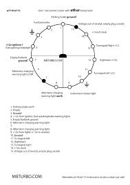 contact instrumentcluster wiring mercedes benz turbo