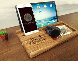 decorative charging station iphone charging dock etsy