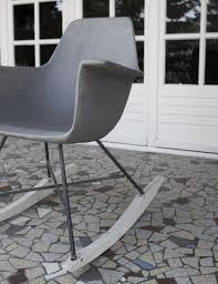 concrete rocking chair nicer than eames rocker lyon béton