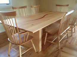 Natural Wood Dining Room Table by Maple Dining Table Bench Studio Dining Table Chairs And Bench In
