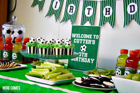 soccer party ideas soccer party food table lillian designs
