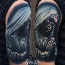 skull virgin mary tattoo by evan olin tattoos