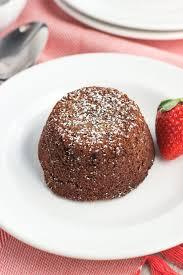 mini chocolate strawberry lava cakes