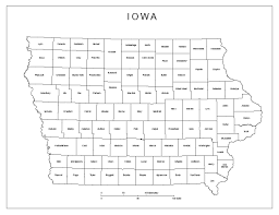 state of iowa map iowa labeled map