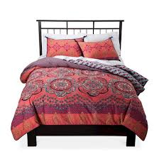 coral nadia medallion reversible duvet cover set target